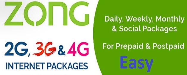 Zong internet packages 2021