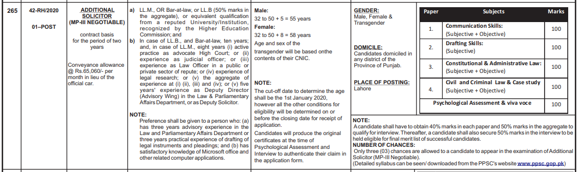 Law and parliamentary affairs job september 2020